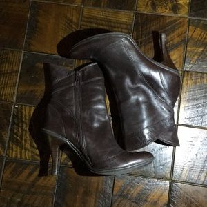 Gianni Bini Leather Heeled Ankle Boots